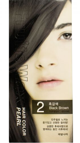 Краска для волос Fruits Wax Pearl Hair Color N 02 Black Brown