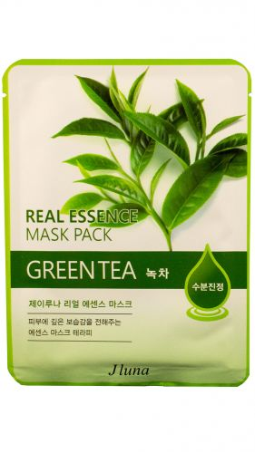 Тканевая маска с экстрактом зеленого чая JLuna Real Essence Mask Green Tea