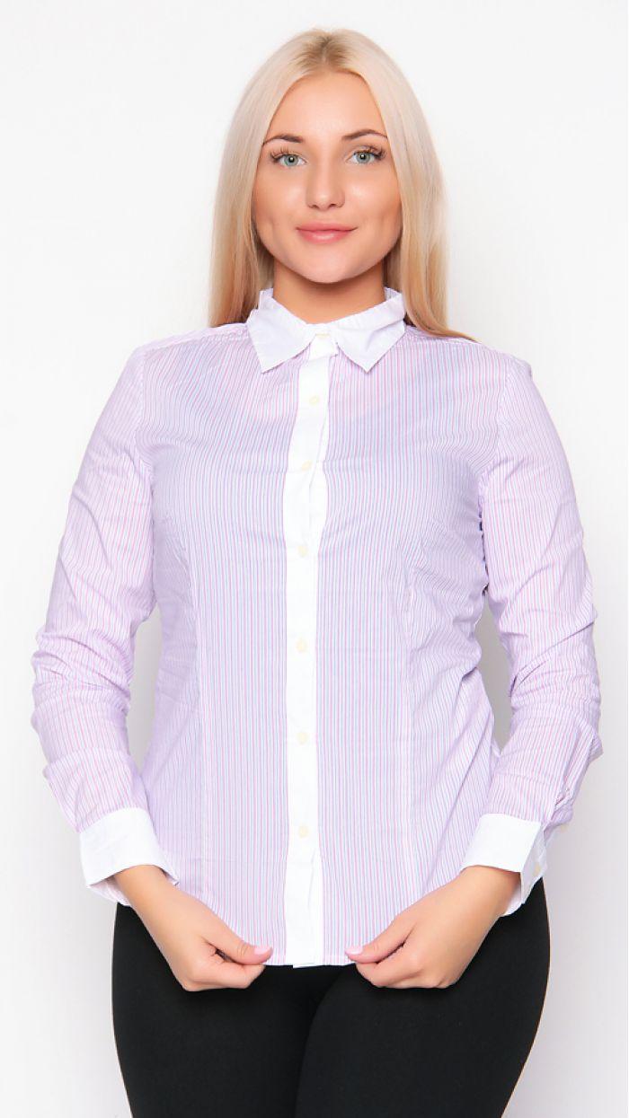 блузки рубашечного типа для полных