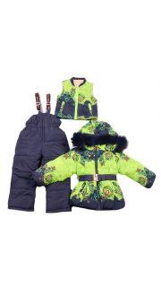 Костюм: (комбинезон + куртка + жилетка)  004900040 оптом.