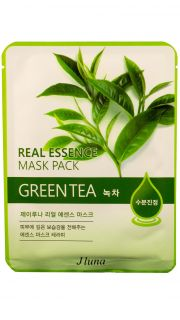 Тканевая маска с экстрактом зеленого чая JLuna Real Essence Mask Green Tea  081800038 оптом.